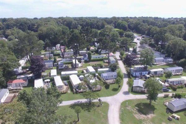 Camping Du Quinquis : Vu Aérienne Du Quinquis Un Camping Proche Guidel Min