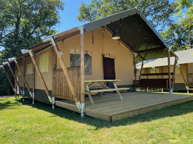 camping sud finistère : tente Lodge